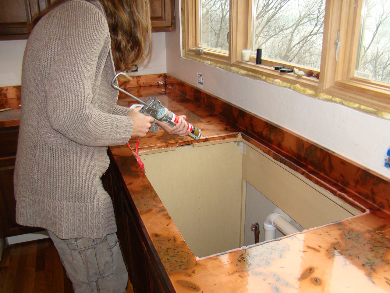 affordable countertops modern cost copper kitchen home decor
