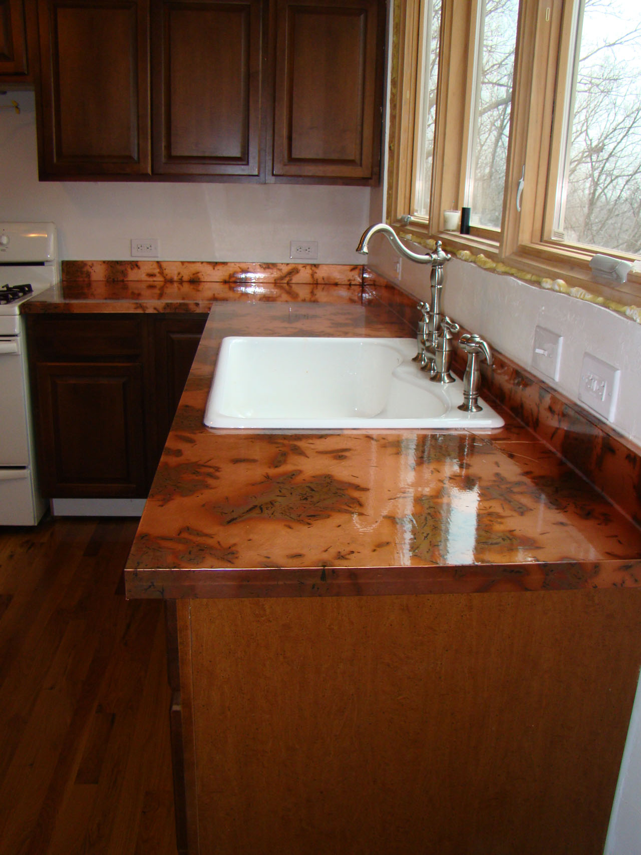 Copper Kitchen Countertops The Kitchen And Diy Copper Countertops