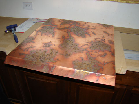 The kitchen and diy copper countertops for Zinc countertop cost