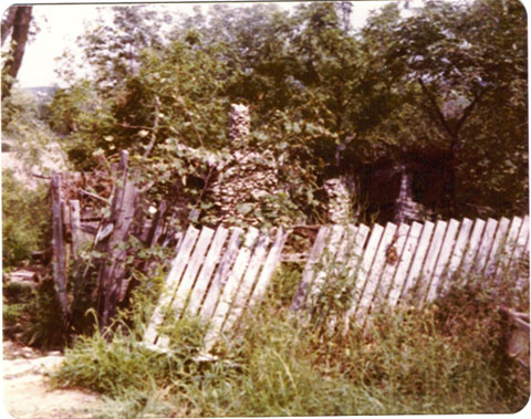 Old shed down the hill in 70s